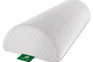 Back Pain Relief Half Moon Bolster with Washable Organic Cotton Cover by Cushy Form Review